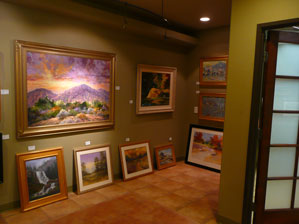 View to the Front Entry at the La Quinta Gallery of Fine Art in Old Town La Quinta